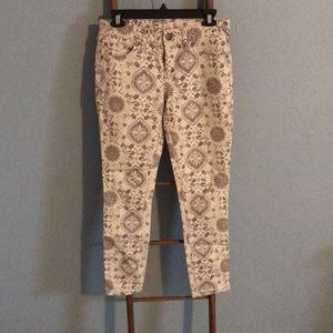Free People Skinny Jeans with Design W27 $40